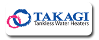 We Install Takagi Tankless Water Heaters
